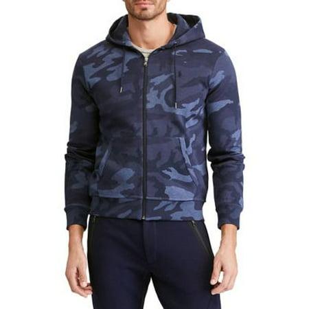 Ralph Lauren Mens Double-Knit Hoodie Sweatshirt bluecamo XL
