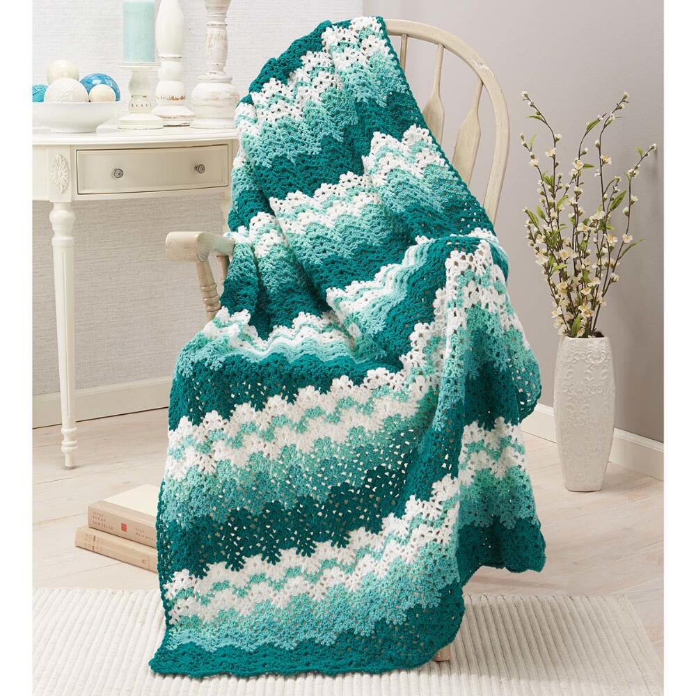 Herrschners  Sea Foam Crochet Afghan Kit