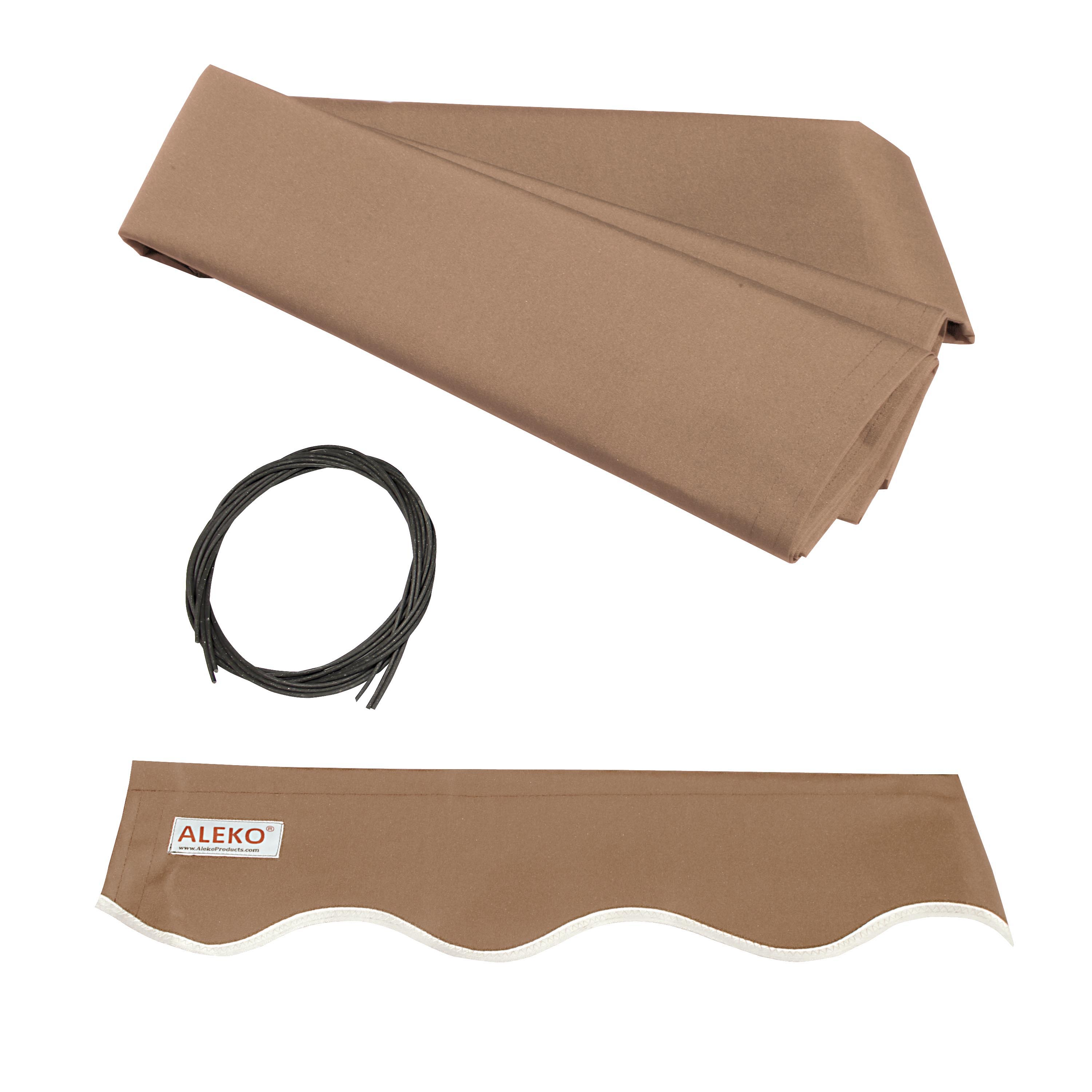 ALEKO Retractable Awning Fabric Replacement - 10x8 Feet - Sand