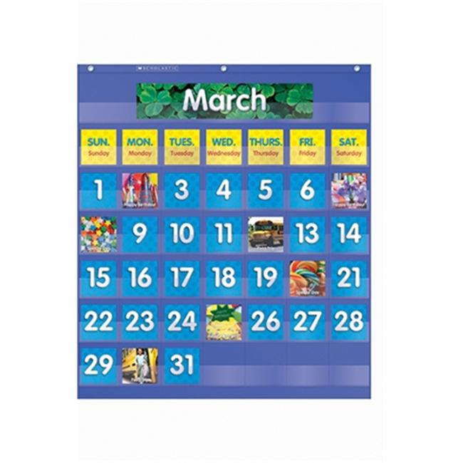 Teachers Friend TF-5101 Monthly Calendar Pocket Chart- Gr K-5