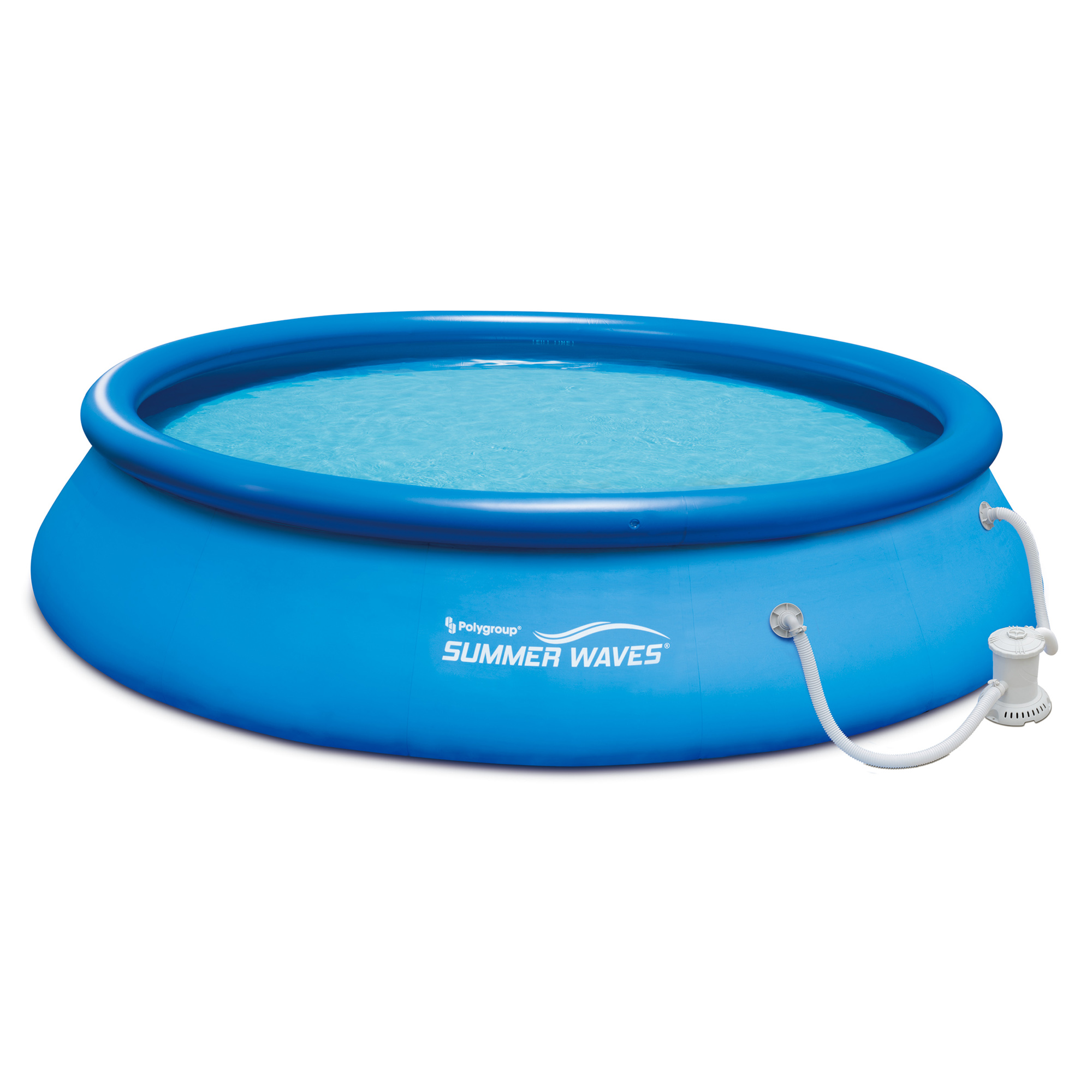 """Summer Waves 15' x 36"""" Quick Set Inflatable Above Ground Pool with Filter Pump by Summer Waves"""