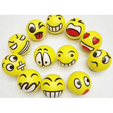 "3"" Party Pack Emoji Stress Balls Stress Reliver Party Favors, Toy Balls, Party Toys (12 Pack) - image 2 de 4"