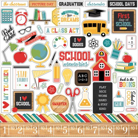 - Back To School Cardstock Stickers 12