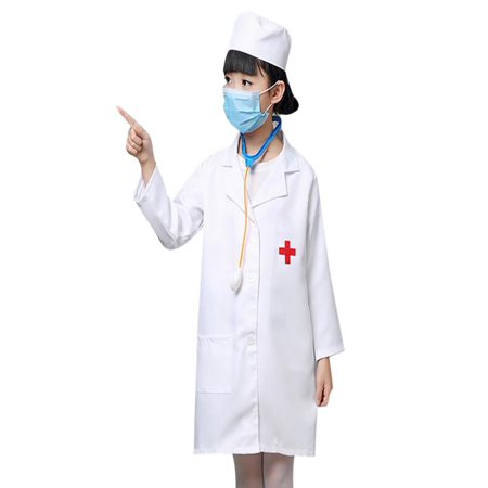 TopTie Kid's Lab Coat with Cap, For Kid Scientists or - Lab Coat For Kids