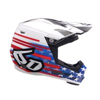 6D Helmets 2019 Youth ATR-2Y Patriot Offroad Helmet Red/White/Blue Youth Large