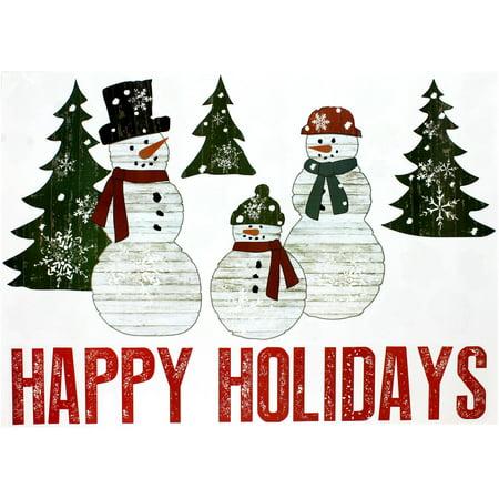 Holiday Time Christmas Decor Happy Holidays Wall Art, 39\