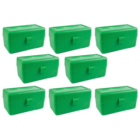 MTM 50 Round Flip-Top .22-250 to 7.62 X 39 Win Ammo Box - Green (8