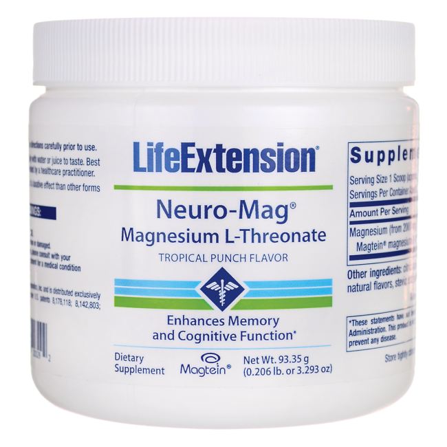 Life Extension Neuro-Mag Magnesium L-Threonate - Tropical Punch 3.293 oz Pwdr