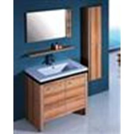 Vanity Light Dresser : Legion Furniture WTH0932 Sink Vanity With Mirror And Side Cabinet In Light Maple - Walmart.com