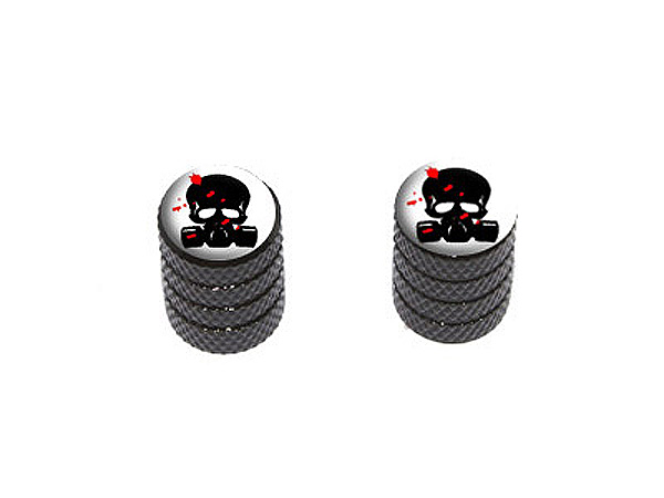 Zombie Outbreak Response Team Blood Skull Gas Mask Bike Valve Stem Caps by Graphics and More