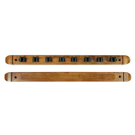 Pool Cue Rack Only - 8 Billiard Stick - Wall Rack - Holder Oak Finish