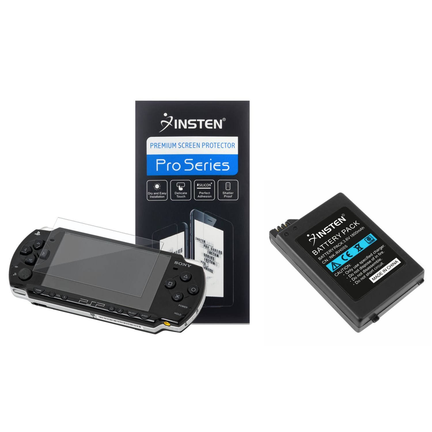 Insten Replacement Lithium Battery Pack + Screen Protector For PSP