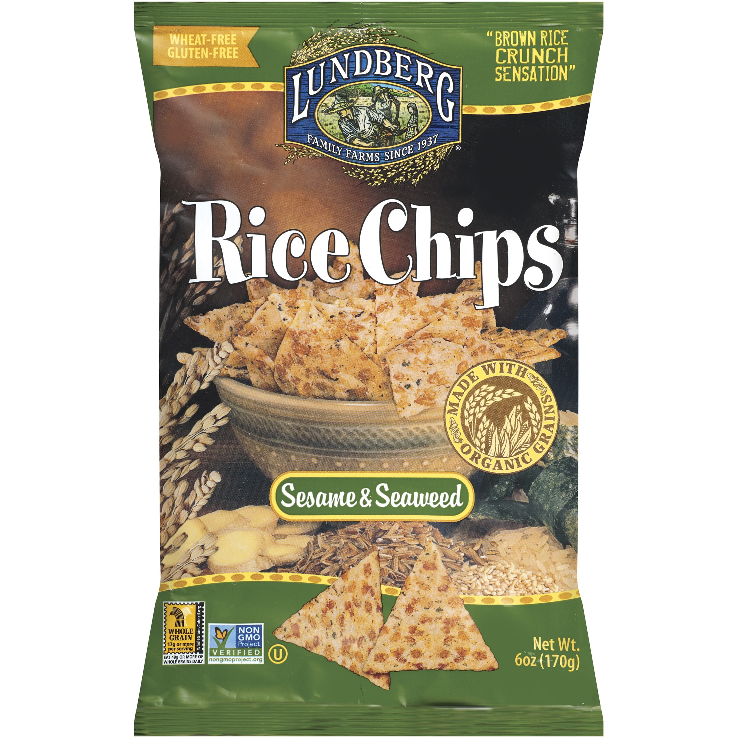 Lundberg Rice Chips, 6 Ounce