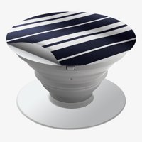 Skins Decals For Popsockets (4-Pack Decals Only) Cover / Black White Stripes