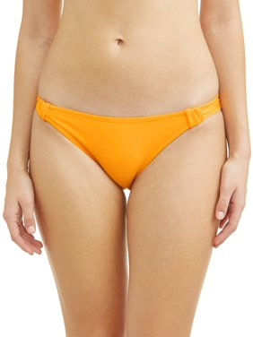 No Boundaries Juniors' Solid Knotted Swimsuit Bottom