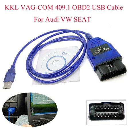 KKL VAG-COM 409.1 OBD2 USB Cable Auto Scanner Diagnostic Tool For Audi VW SEAT ()