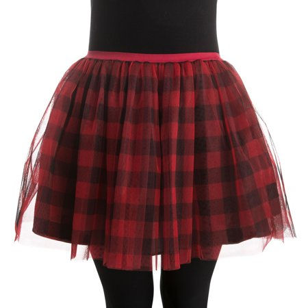 Woman Plaid Tutu Small/Medium Halloween Dress Up / Costume Accessory
