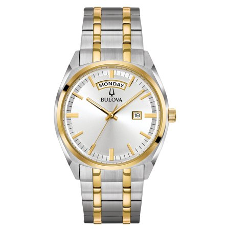 98C127 Men's Classic Silver Dial Two Tone Yellow Gold Steel - Dial Gold Tone Steel Watch