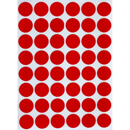 Color Dot Stickers (Red Dot Sticker approximately ~ 3/4