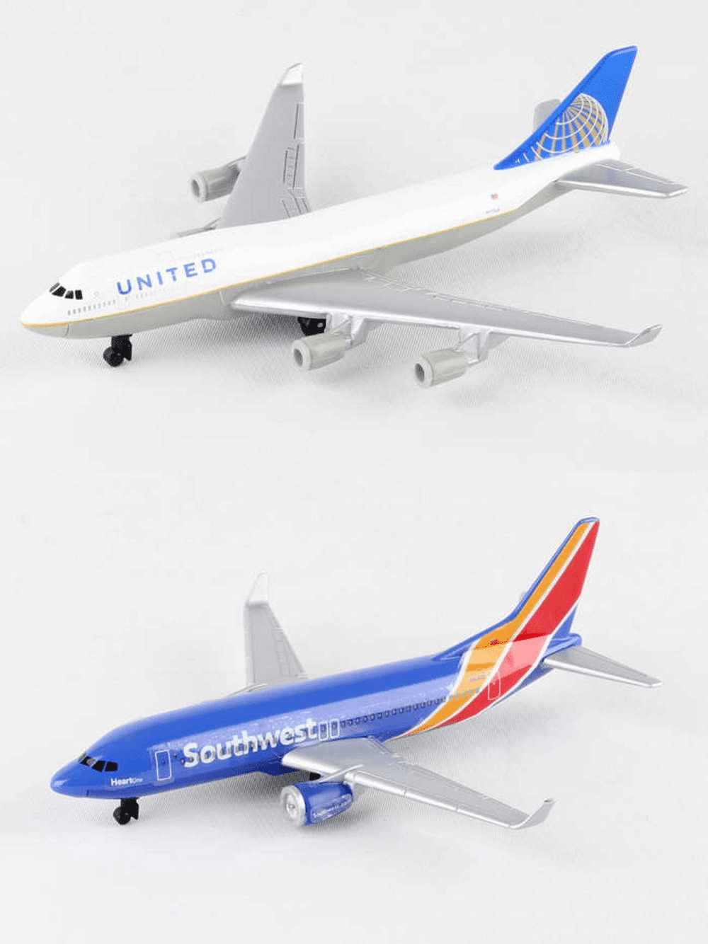 United, Southwest Airlines Diecast Airplane Package - Two 5.5 ...