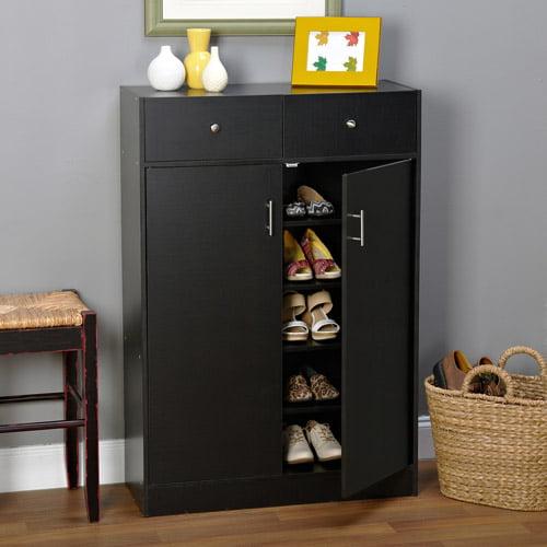 Seth Entryway Shoe Cabinet, Multiple Finishes - Walmart.com