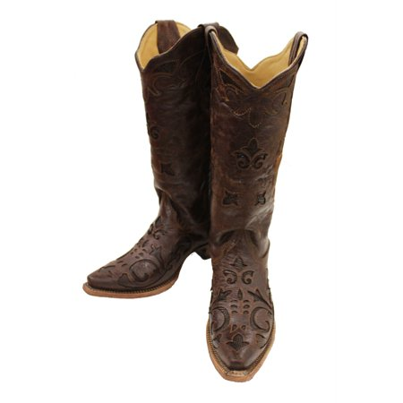 c823b57018db5 Corral Boots - Corral Women's Brown Vintage Lizard Inlay Snip Toe Cowgirl  Boots C2692 - Walmart.com