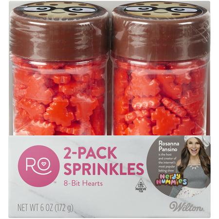 Wilton Rosanna Pansino 8-Bit Hearts Sprinkles Set - Heart Sprinkles