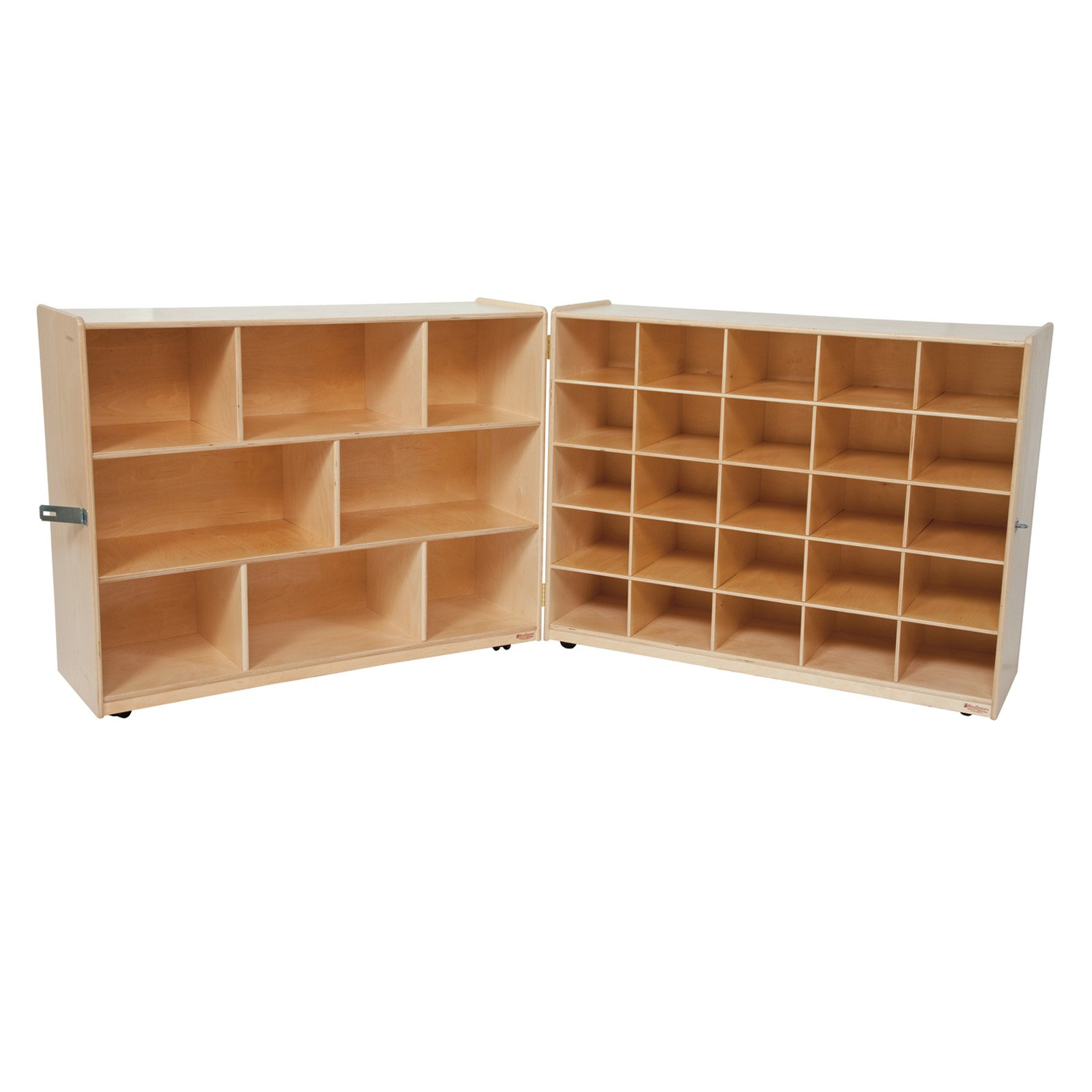 Wood Designs Natural Tray and Shelf Folding Storage without Trays