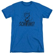 Saturday Night Live Schwing Mens Adult Heather Ringer Shirt