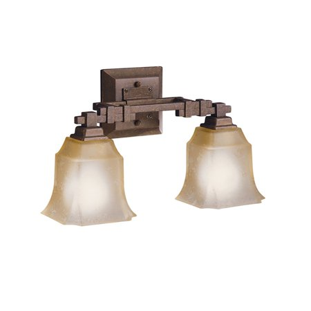 Tannery Bronze Cast (Aztec Lighting Transitional 2-light Tannery Bronze Bath/Vanity)