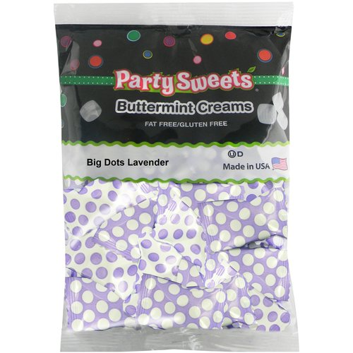 Party Sweets Big Dots Lavender Buttermint Creams Candy, 7 oz