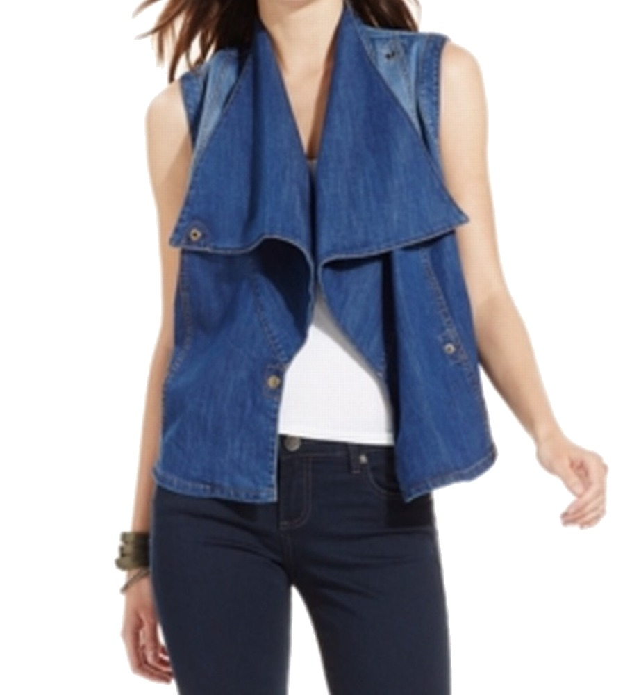 Kut from the Kloth NEW Blue Women's Size Medium M Envelope Neck Vest Jacket