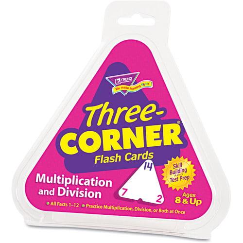 Trend 3-Corner Flash Cards, 48pk