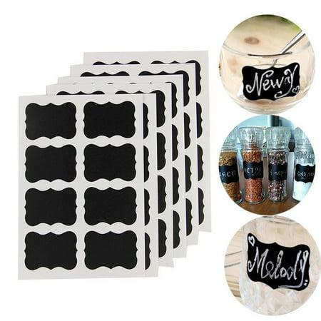 Jonti Craft Black Kitchen - Well Made Blackboard Sticker Craft Kitchen Candy Jar Organizer Labels 48Pcs/Set