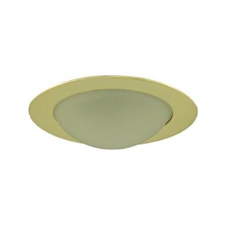 Aperture Low Voltage Shower Trim with Frosted Dome Polished Brass Finish 3