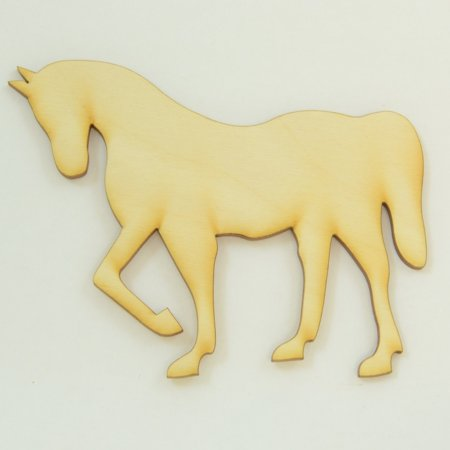 Package Of 10, Horse Wood Cutout 4