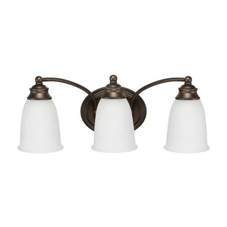 132 Capital Lighting (Capital Lighting  Transitional 3-light Burnished Bronze Bath/Vanity Light )