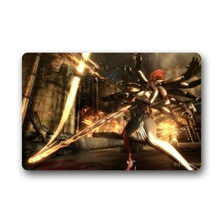 WinHome Metal Gear Rising Revengeance Game Doormat Floor Mats Rugs Outdoors/Indoor Doormat Size 23.6x15.7 inches
