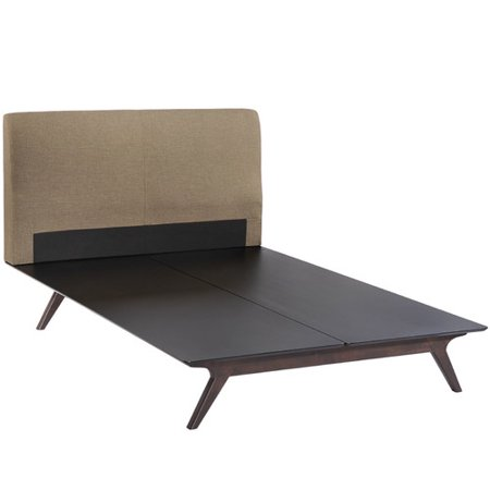 Modway Twin Panel Bed Cappuccino Latte