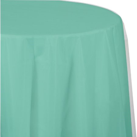 """Touch of Color Plastic Tablecover, Octy Round, 82"""", Fresh Mi"""