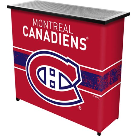 Nhl Portable Bar With Carrying Case  Montreal Canadiens