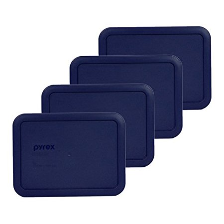 Pyrex 7210-PC Rectangle Dark Blue 3 Cup Storage Lid for Glass Dish (4, Dark Blue)