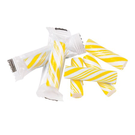 Fun Express - Yellow Mini Candy Sticks (1lb) - Edibles - Hard Candy - Candy Cane & Stick - 113 Pieces - Yellow Lollipops