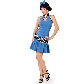 The Flintstones Betty Rubble Adult Costume - Wilma Flintstone And Betty Rubble Halloween Costumes