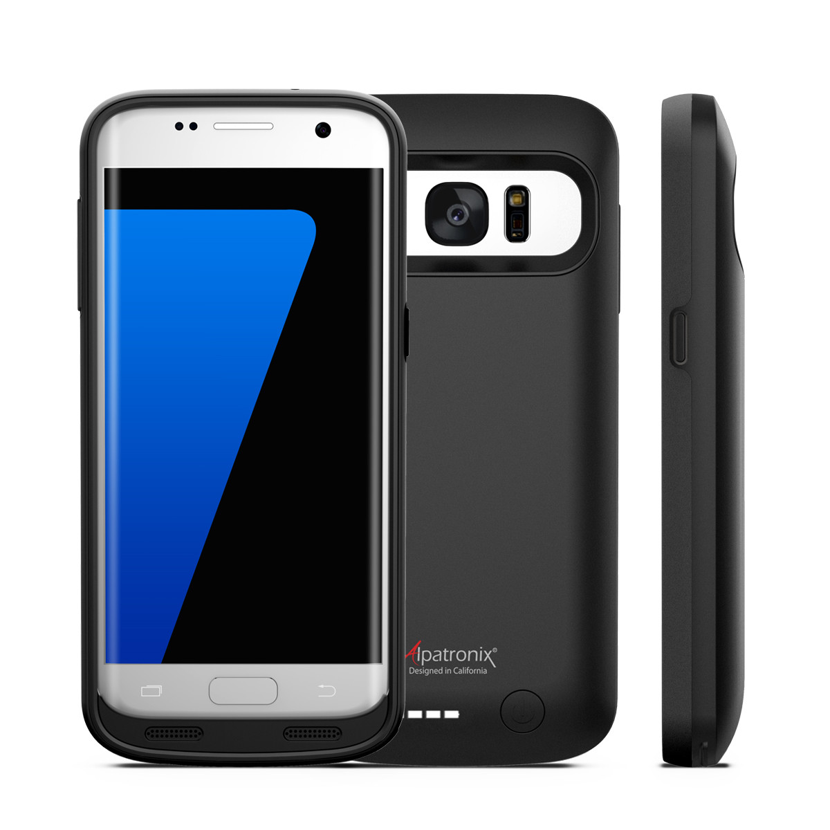 Galaxy S7 Battery Case, Alpatronix BX420 4500mAh Slim External Protective Removable Rechargeable Portable Charging Case for Samsung Galaxy S7 [S7 Charger Case / Android OS 6.0+ Support] - (Black)