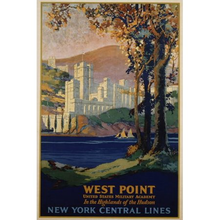 West Point - New York Central Lines Travel Poster Print Wall Art By Frank Hazell Advertisement Art Poster Print