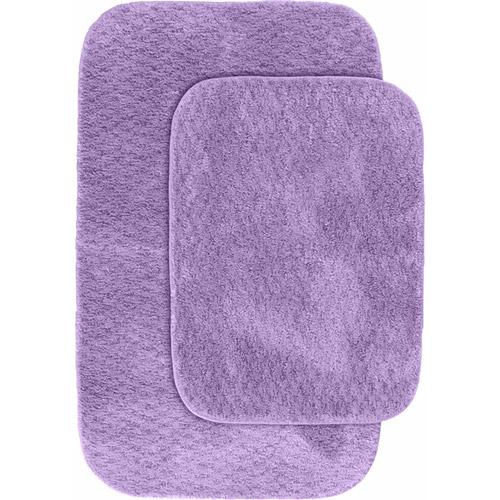 "Cabernet Nylon 2-Piece Washable Bathroom Rug Set 17""x34""/21""x34"""