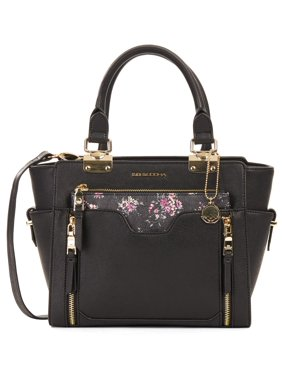 Big Buddha Satchel With Floral Printed Purse