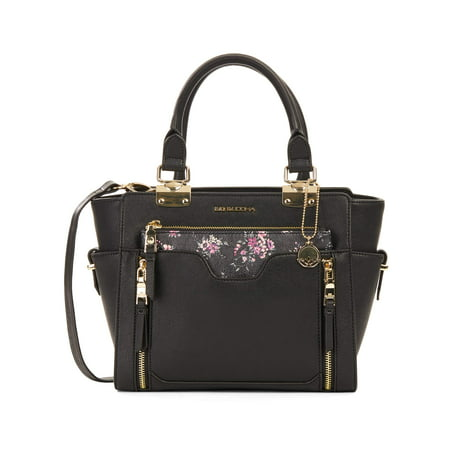 Big Buddha Satchel With Floral Printed Purse (Best Name Brand Purses 2019)