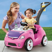 Step2 Whisper Ride II Ride-On, Handle Folds Under For Easy Transport And Storage, Pink